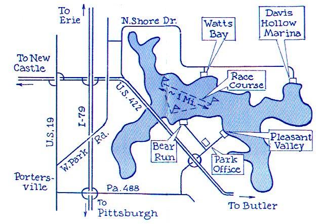 map of lake arthur pa Moraine Sailing Club Map map of lake arthur pa